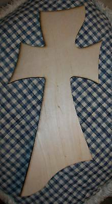 UNFINISHED WOOD CROSS FUO1 style 22'' tall LARGEST size