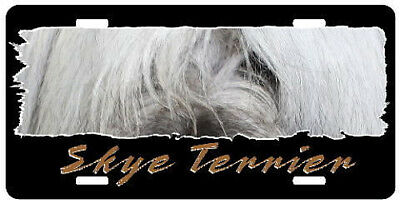 "Skye Terrier  "" The Eyes Have It ""  License Plate"