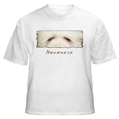 "Havanese    "" The Eyes Have It""   Custom Made    T shirt"