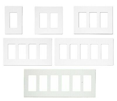 Gfi / Decora Wall Screwless Plastic Cover Plate 1 2 3 4 5 Gang White