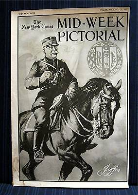 1915 NY Times 10-07 Mid Week War Pictorial WWI Magazine