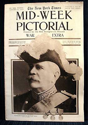 1915 NY Times 01-21 Mid Week War Pictorial WWI Magazine
