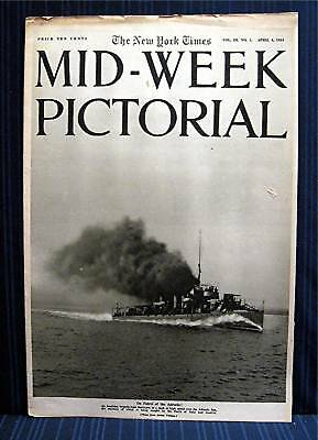 1916 NY Times 04-06 Mid Week War Pictorial WWI Magazine