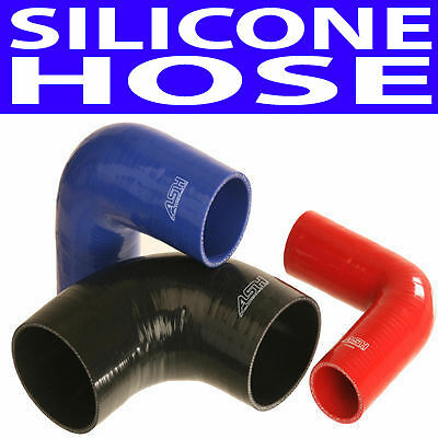 57Mm 90 Degree Bend Silicone Hose 4 Ply Black