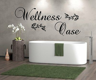 Wandtattoo  Badezimmer Wellnessoase Wellness Oase WT 29956 Wand Sticker Fliesen