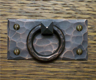 Hand-Hammered Copper Mission Drawer Pull Stickley Style
