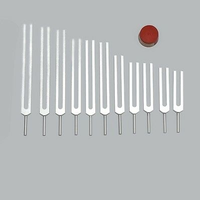 11 Mineral Nutrients Tuning Forks + Activator+Pouch tuners for healing therapy