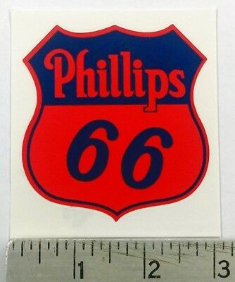 "Vintage Phillips 66 red shield sticker decal 2.7""x3"""