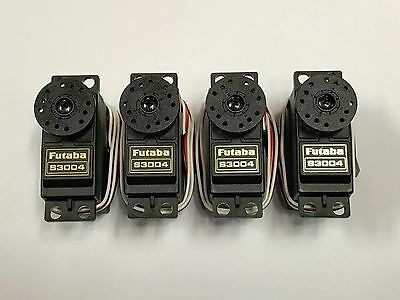 Brand New Set Of Four Futaba S3004 3004 Ball Bearing Bb Rc Airplane Servos !!