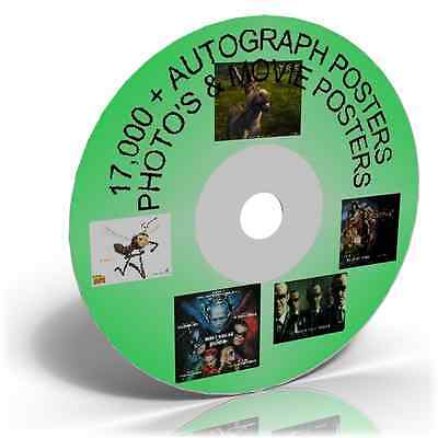 17,000+Autograph Posters Photo's & Movie Posters On Dvd