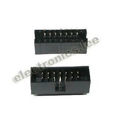 10pcs 2x7 14 Pin Double Row 2.54mm Straight Male IDC Socket Box header connector