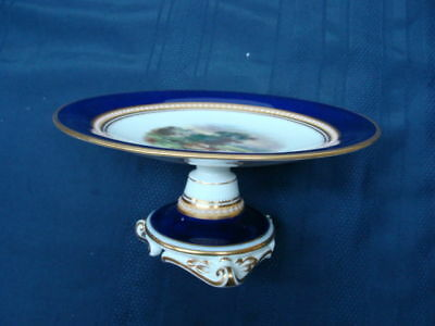 George Grainger & co Worcester Hand Painted Comport