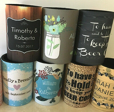 Personalised STUBBY Holder cooler 21st 40th 50th PHOTO Gift Beer Wedding bday