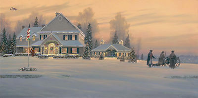 """Christmas Traditions at Watchman Hill Inn"" on Canvas"