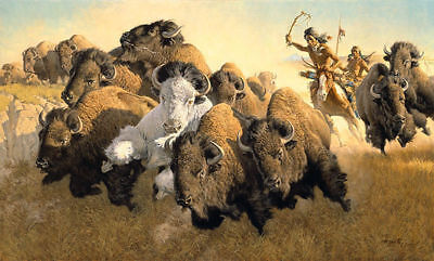 """""""In Pursuit of the White Buffalo"""" McCarthy Western Art"""