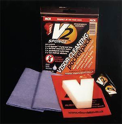 New V2 Motorcycle Bike Helmet Visor Maintenance Cleaning Care Sponge Cloth Kit