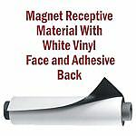 White Vinyl Magnetic Receptive Material w/Adhesive 2'