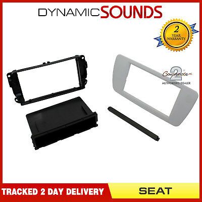 CT24ST08 Double Din Stereo Fascia Panel with Pocket For SEAT Ibiza 2008-2014