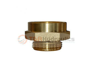 """Fire Hydrant Brass Adapter 3"""" FPT(F) x 2-1/2"""" NST(M)"""