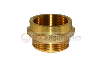 """Fire Hydrant Brass Adapter 2-1/2"""" FPT x 2-1/2"""" NST(M)"""