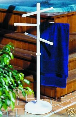 Outdoor portable towel holder rack - pool patio spa yard