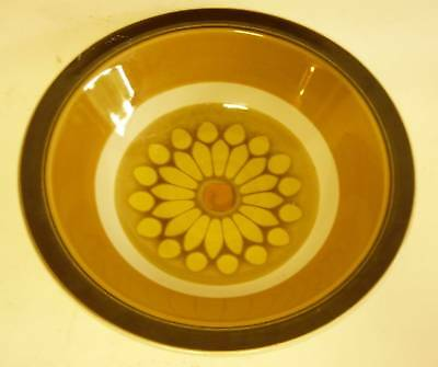 Vintage MID CENTURY MODERN SUNFLOWER SERVING BOWL SALAD