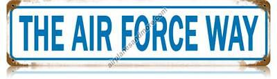 """""""The Air Force Way"""" Vintage Metal Sign - Made in the USA"""