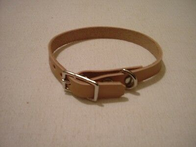 """#DC54 LOTof 5 WHOLESALE LEATHER  6""""-8""""PUPPY/CAT COLLAR ASSORTED COLORS"""