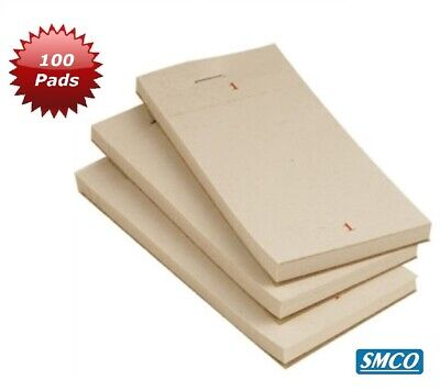 100 RESTAURANT WAITER PADS Takeaway Pub Cafe Order NUMBERED Single Ply BY SMCO