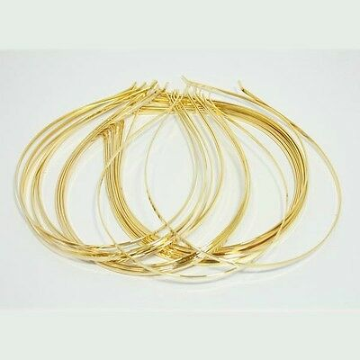 12 pieces WHOLESALE LOT GOLD METAL HEADBAND HAIR ACCESSORY 3mm gold headband