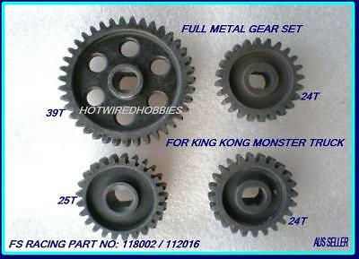 Fs Racing Gear Set Part 118002 & 112016 For Petrol Remote Control Car 1/5 Scale