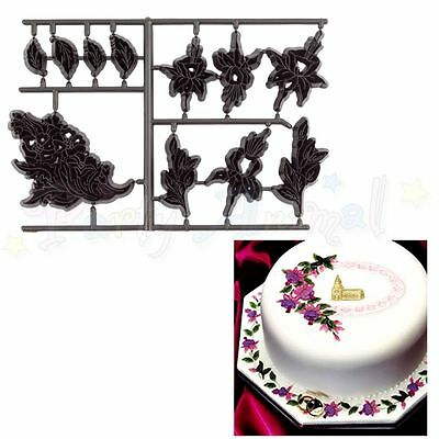 Sugarcraft Patchwork cutters and embossers - Fuchsia and Lace - cake decoration