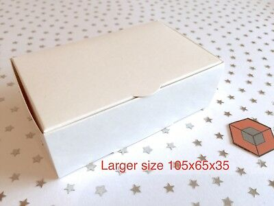 50 White *LARGER*  Party CAKE favour boxes 105x65x35mm Bargain £5.66 inc postage