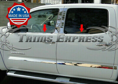 For 2005-2015 Toyota Tacoma Double Cab Stainless Steel Window Sill Overlay 4pcs