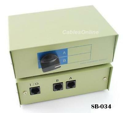 CablesOnline Compact 2-Way RJ45 Ethernet Network Push Button Metal ...