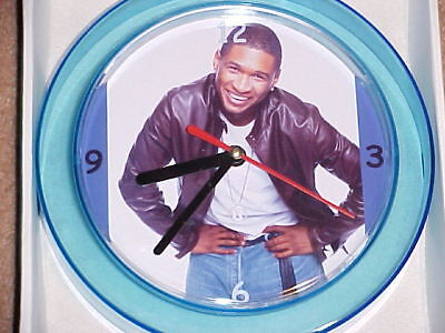 "USHER Novelty Wall Clock 7"" NEW ""L@@K"""