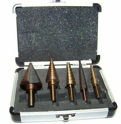 5 Pc Metric Hss With Cobalt Coated Step Drill Bit Tool Mm Sizes Drilling Tools