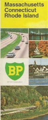 1972 BP OIL Road Map CONNECTICUT MASSACHUSETTS RHODE IS