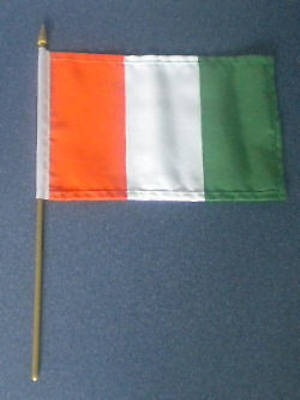 Ivory Coast Ivorian Country Hand Flag