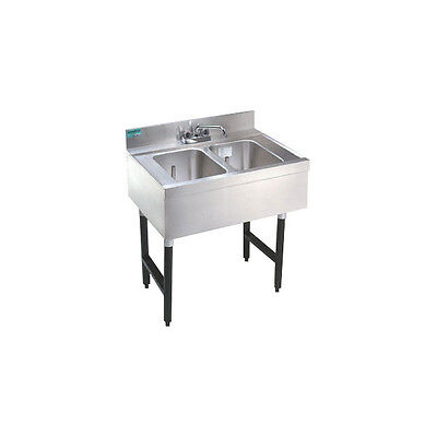 """Stainless Steel Bar Sink - 23"""" - Two Compartment"""