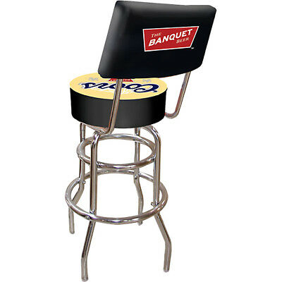 New Coors Banquet Beer Padded Metal Bar Stool w/ Back