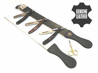 3Pcs Straight Razor With Razor Leather Shaping Strop New Mens Package