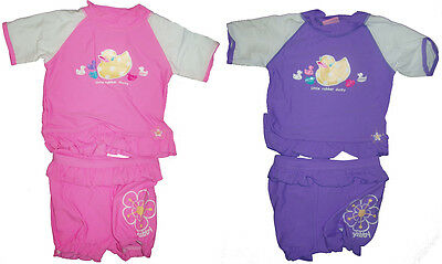 Baby Girls Rash Set Swimwear Bathers Sz 000 00 0 Newborn New!