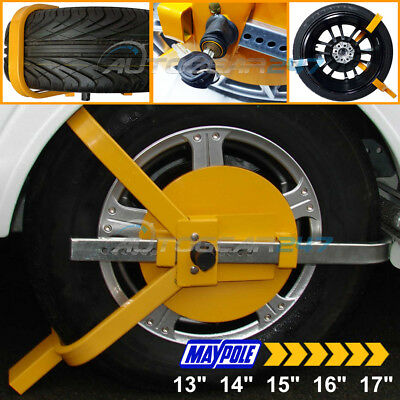 "Maypole MP9065 Car Van Trailer Caravan 13"" 14"" 15"" 16"" 17"" Security Wheel Clamp"