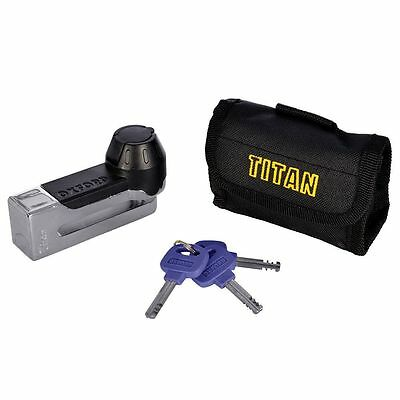 Oxford Motorcycle Motorbike Security Titan Disc Lock Yellow - Of51