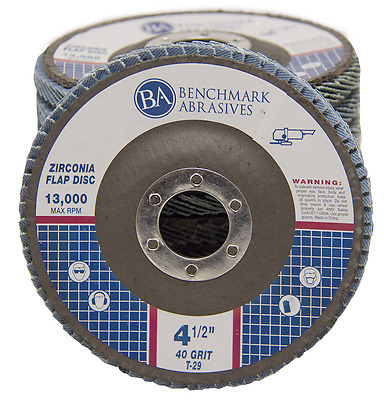 "10 Pack 4.5"" x 7/8"" Professional 40 Grit Zirconia Flap Disc Grinding Wheels T29"