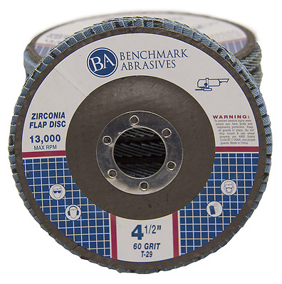 "10 Pack 4.5"" x 7/8"" Professional 60 Grit Zirconia Flap Disc Grinding Wheels T29"