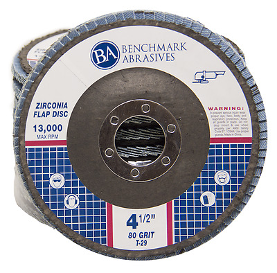 "10 Pack 4.5"" x 7/8"" Professional 80 Grit Zirconia Flap Disc Grinding Wheels T29"