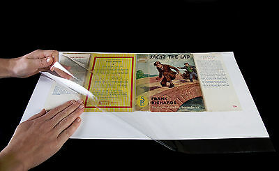 "10x BRODART  book jacket cover 8"" JUST-A-FOLD"