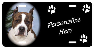 American Staffordshire Terrier #2 Personalized license